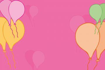 Pink Back Balloons