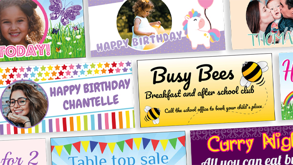 Eco-friendly printed banners for all occasions