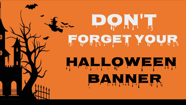 Printed Halloween banners for your special event