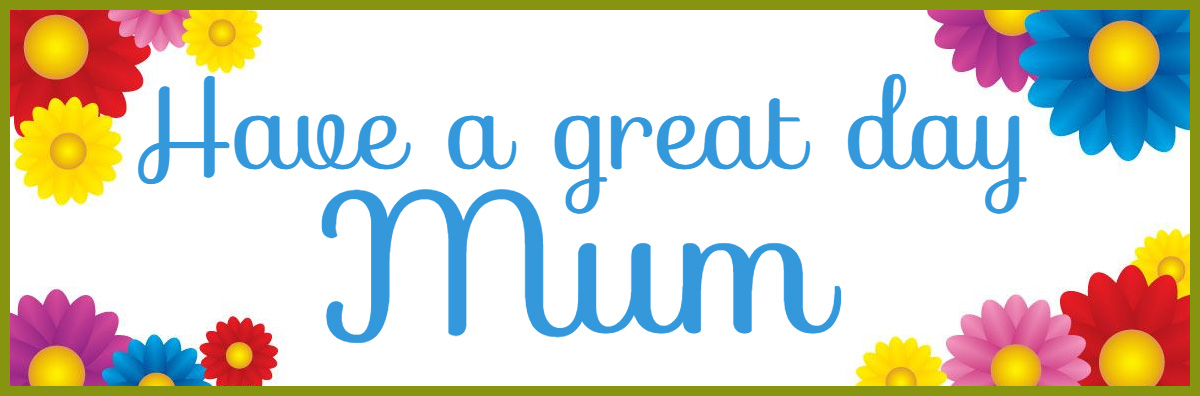 mothers day printed banner template